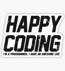 Happy Coding Sticker