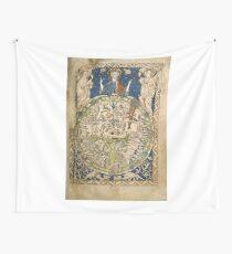 Psalter-Weltkarte (13. Jahrhundert) Wandbehang