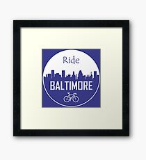 Ride Baltimore Framed Print