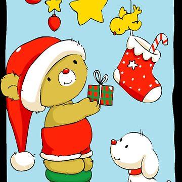 Christmas teddy bear by NovaPaint