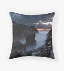 Raging Dawn Throw Pillow