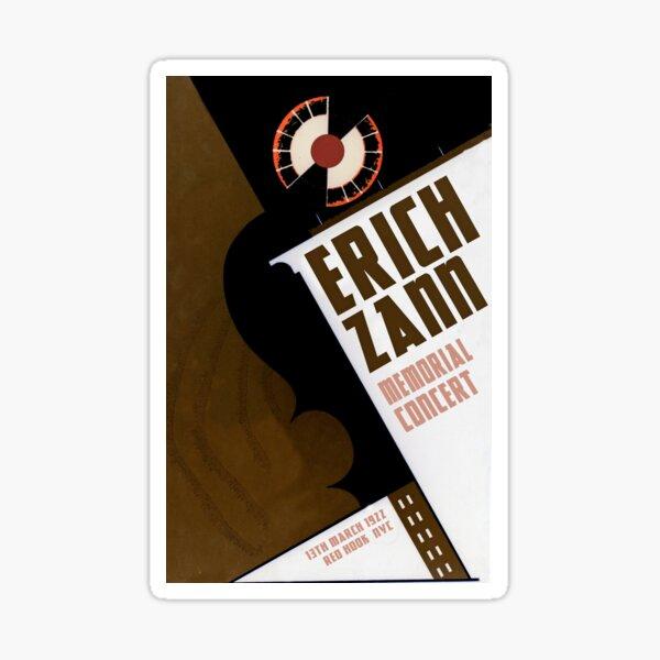 "H.P. Lovecraft Travel Poster: Erich Zann (""The Music of Erich Zann"") Sticker"