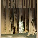 """H.P. Lovecraft Travel Poster: Vermont (""""The Whisperer in Darkness"""") by futurilla"""