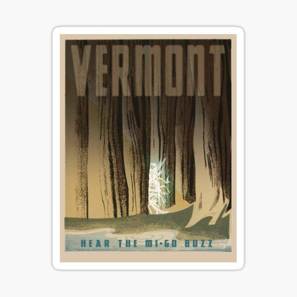 "H.P. Lovecraft Travel Poster: Vermont (""The Whisperer in Darkness"") Sticker"