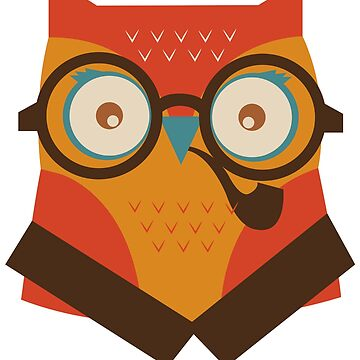 Owl In Glasses With Smoking Pipe Great Fashion T-Shirt by andalit