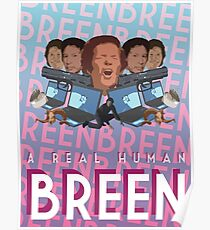 A Real Human Breen Poster