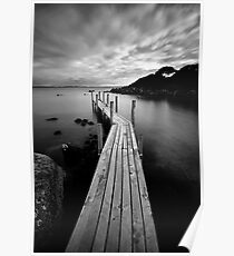 The Jetty II (in B&W) Poster