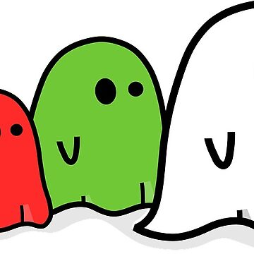 Halloween Colorful Ghosts by MartinV96