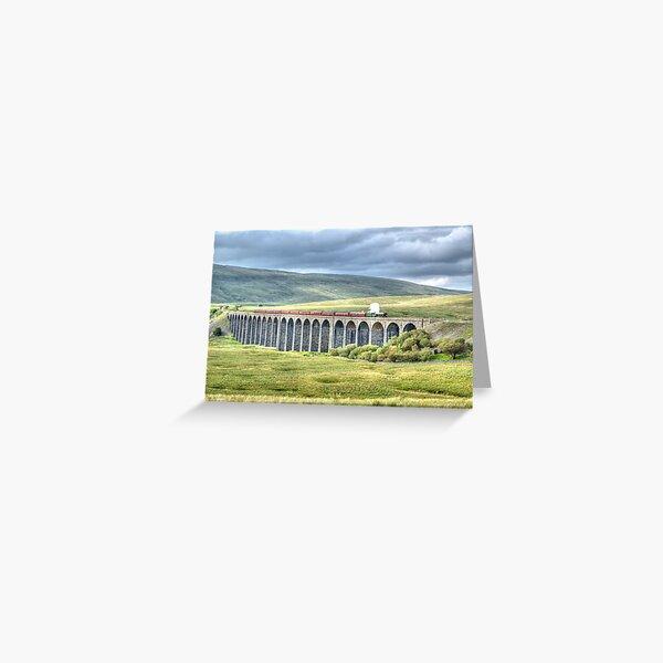 Flying Scotsman crosses Ribblehead Viaduct Greeting Card