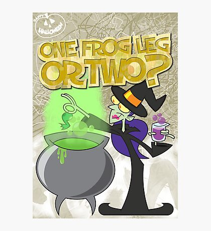 Halloween Poster 2009 - One Frog Leg or Two Photographic Print