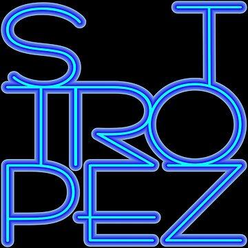 St. Tropez in blue neon. by robelf