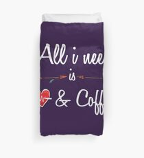 All i need cardio and coffee Funny T Shirt Hoodie Duvet Cover