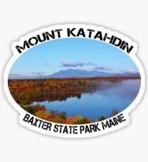 Mount Katahdin Maine Autumn Forever Wild  Sticker