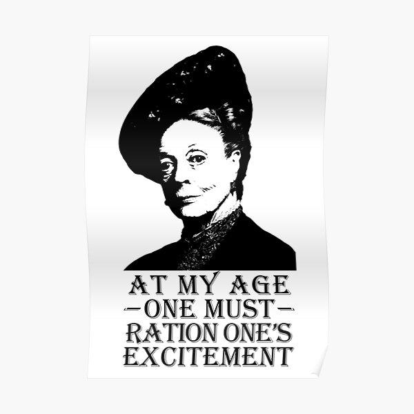 À mon âge, un must pour la ration Poster
