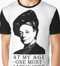 At My Age, One Must Ration One's Excitement Graphic T-Shirt