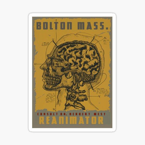 "H.P. Lovecraft Travel Poster: Bolton (""Herbert West - Reanimator"") Sticker"