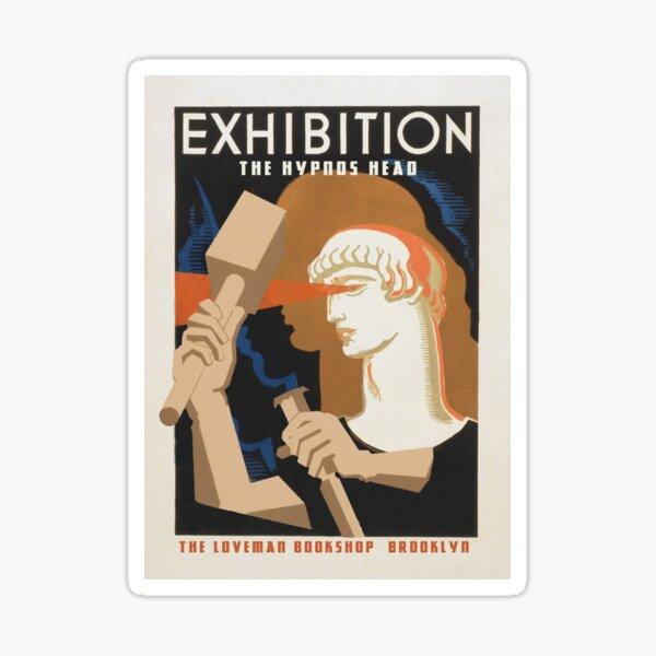 "H.P. Lovecraft Travel Poster: The Hypnos Head (""Hypnos"") Sticker"