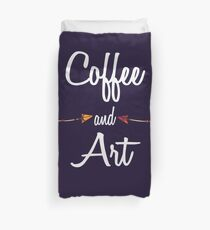 Coffee and art T shirt Hoodie Duvet Cover
