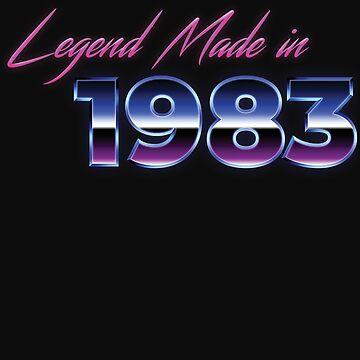 Retro 80s Shirt Born in 1983 Vintage Birthday Gift by normaltshirts