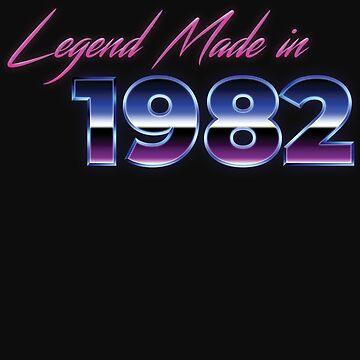 Retro 80s Shirt Born in 1982 Vintage Birthday Gift by normaltshirts