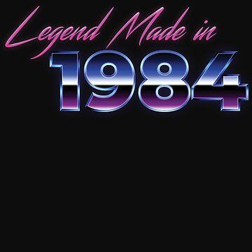 Retro 80s Shirt Born in 1984 Vintage Birthday Gift by normaltshirts
