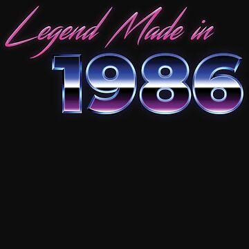 Retro 80s Shirt Born in 1986 Vintage Birthday Gift by normaltshirts