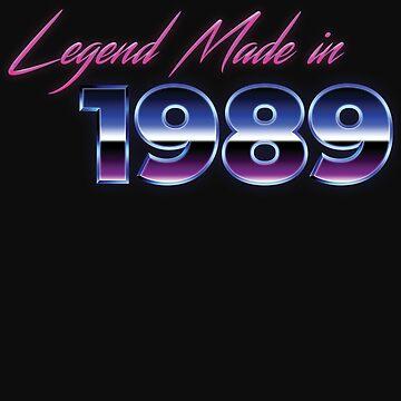 Retro 80s Shirt Born in 1989 Vintage Birthday Gift by normaltshirts