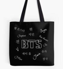 BTS Group (Black) Tote Bag