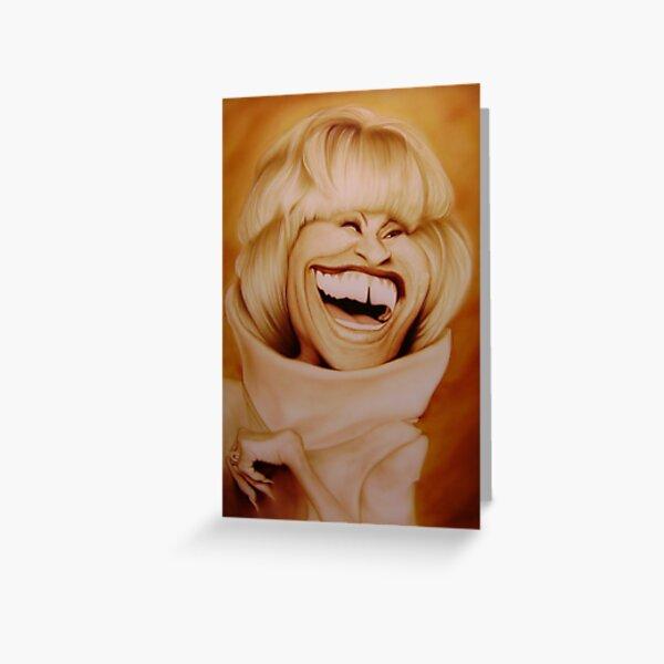 Celia Cruz Caricature Greeting Card