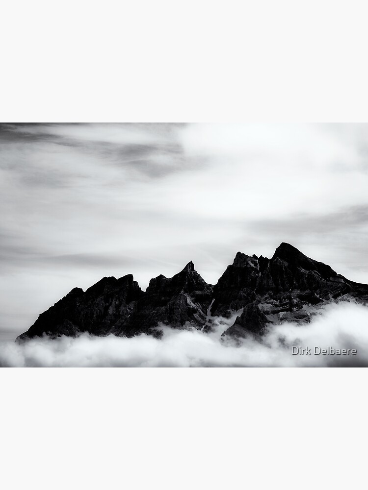 Mountains and clouds by Delbaere