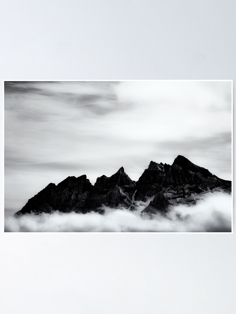 Alternate view of Mountains and clouds Poster