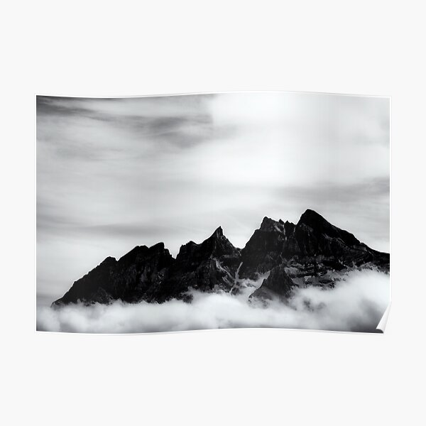 Mountains and clouds Poster