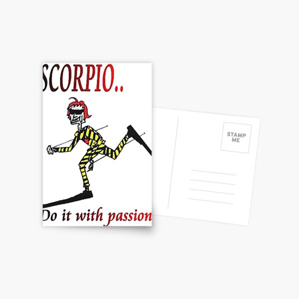 Scorpio - do it with passion Postcard