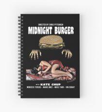 Midnight burger Spiral Notebook