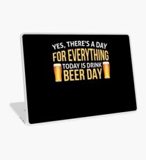 Drink Beer day Shirt - Funny today is beer day Laptop Skin