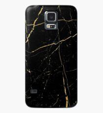 Goldlinien im Noir - Iphone u. Galaxie-Kästen Hülle & Klebefolie für Samsung Galaxy