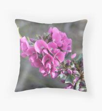 The Holly leaved mirbelia Throw Pillow
