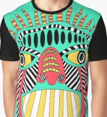 Monkey - Shaman Style - Nature - Colorful - Retro - Turquoise - Maya Graphic T-Shirt