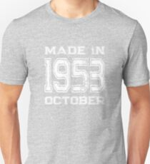 Birthday Celebration Made In October 1953 Birth Year Unisex T-Shirt