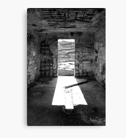 Inside The Outpost Canvas Print
