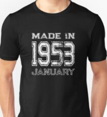 Birthday Celebration Made In January 1953 Birth Year Unisex T-Shirt