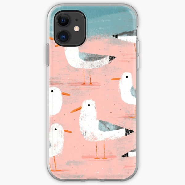 Seagulls on the Shore iPhone Soft Case