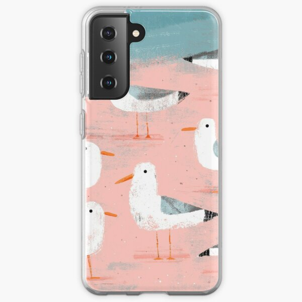 Seagulls on the Shore Samsung Galaxy Soft Case