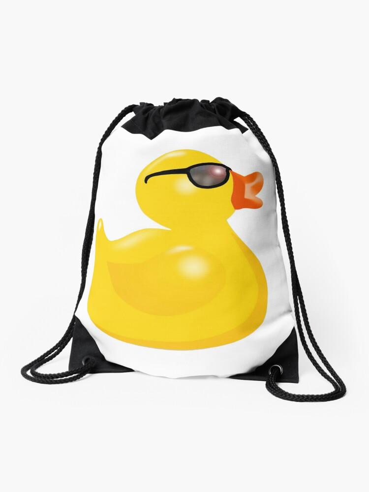 Gummiente mit Sonnenbrille, Gummiente, Gelb, Ente, Badeente. | Fotodruck