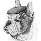 French bulldog with beret by doggyshop