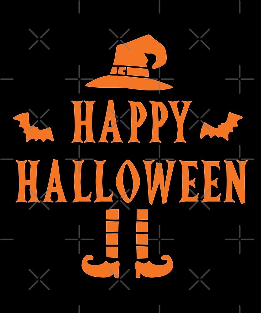 Halloween T-Shirts & Gifts: Happy Halloween by wantneedlove