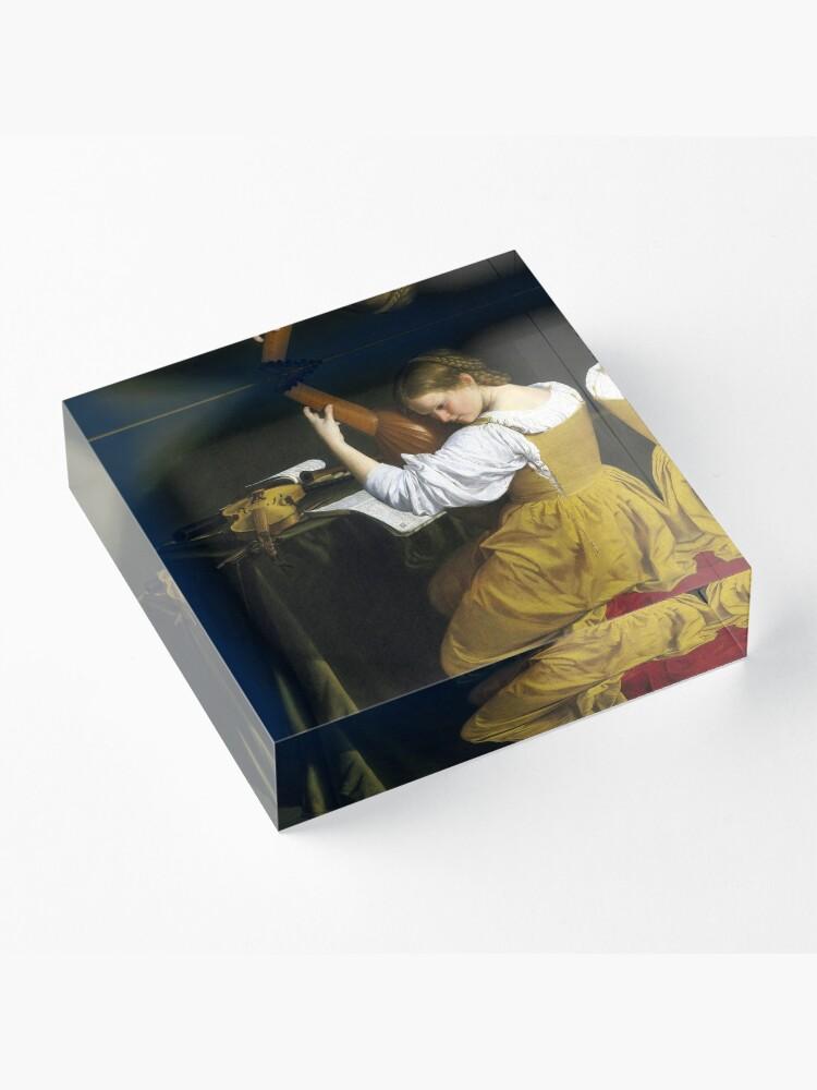 Alternate view of Orazio Gentileschi The Lute Player Acrylic Block