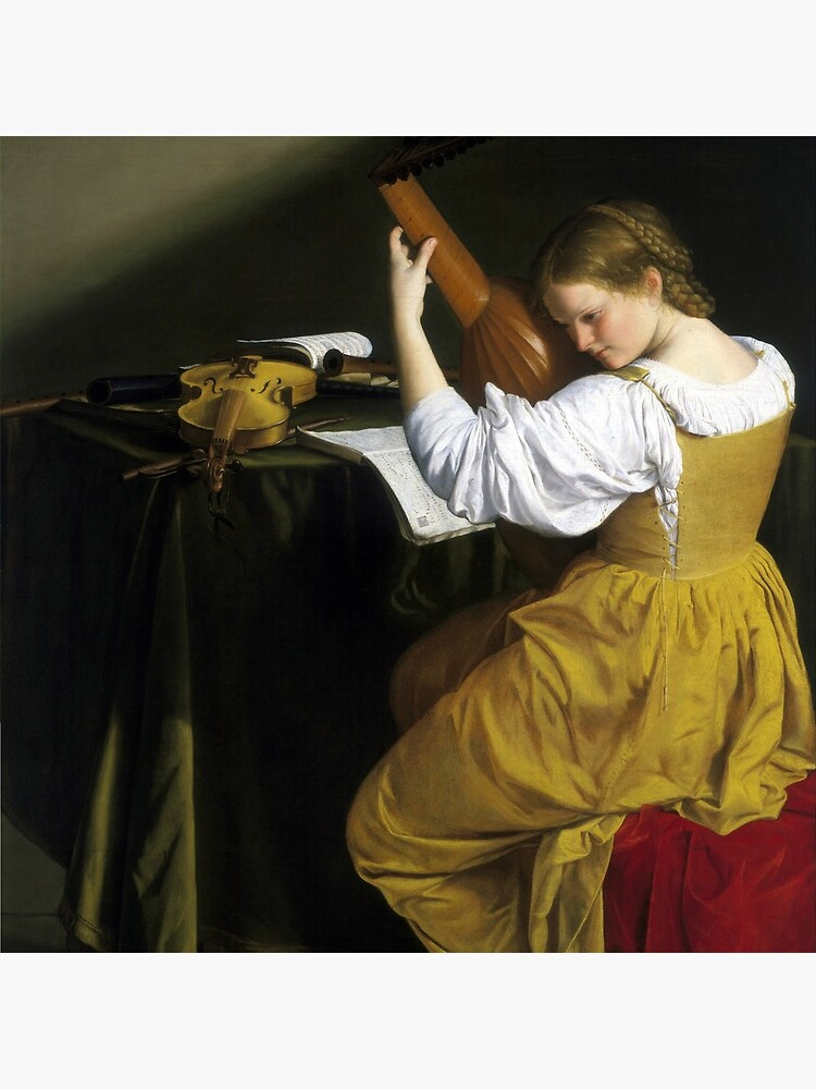 Orazio Gentileschi The Lute Player by pdgraphics