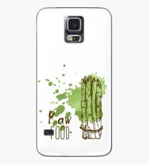 hand drawn vintage illustration of asparagus Case/Skin for Samsung Galaxy