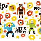 Wrestlers by jackteagle